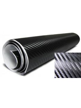 3D Carbon Sticker Black
